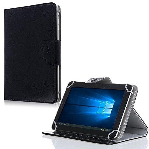 NAUC Tablet Tasche für Odys Cosmo Win X9 Hülle Schutzhülle Hülle Schutz Klapp Cover, Farben:Schwarz