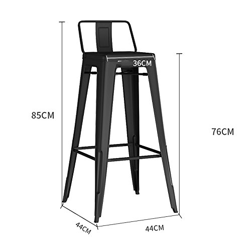 MEIDUO Durable Selles Chaise de salon Chaise de salon Négocier Chaises Tabouret en bois massif Café Dossier Chaise pour intérieur extérieur (Couleur : B)