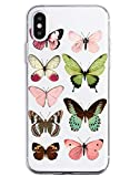 Suhctup Compatible con iPhone 6 Plus/6S Plus Funda de Transparente Silicona con Dibujos Mariposa Lindo Diseño Patrón Cárcasa Ultrafina Suave TPU Antigolpes Bumper Protección Caso-A2
