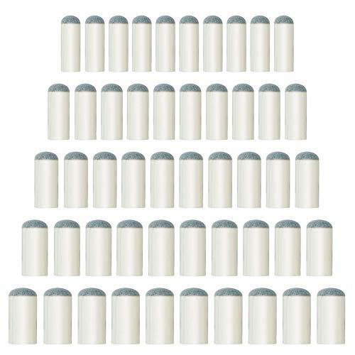 JUHONNZ Puntali per Stecca da Biliardo,50 PCS Puntali di Ricambio per Stecche Biliardo,Accessori da Biliardo,9mm/10mm/11mm/12mm/13mm