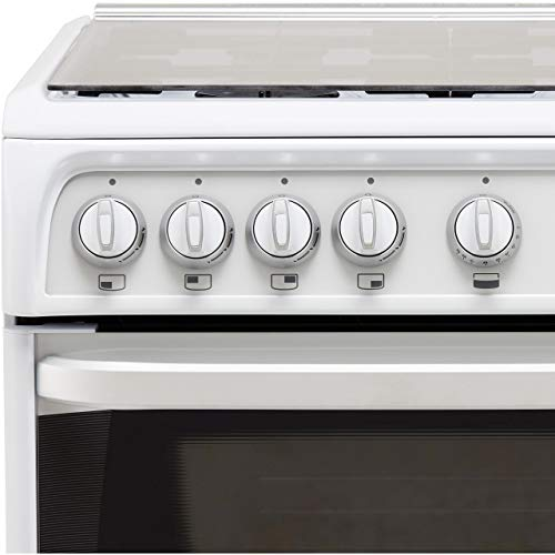 Hotpoint CH60GCIW 60cm Double Oven Gas Cooker in White