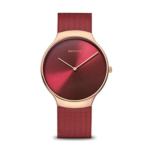 BERING Damen Analog Quarz Uhr mit Edelstahl Armband 13338-Charity