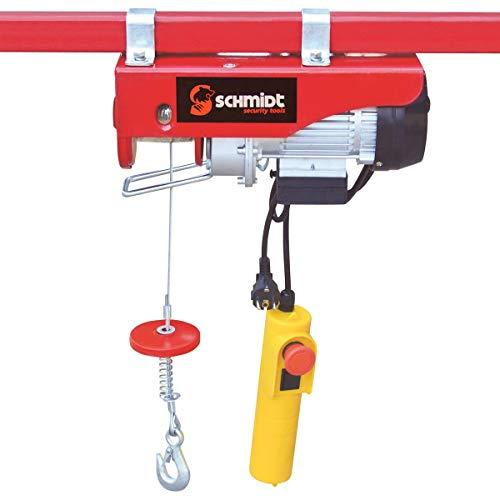 Elektrische Seilwinde Motorwinde Flaschenzug Kran Seilzug Winde für bis 800 kg 12m Stahlseil SCHMIDT security tools