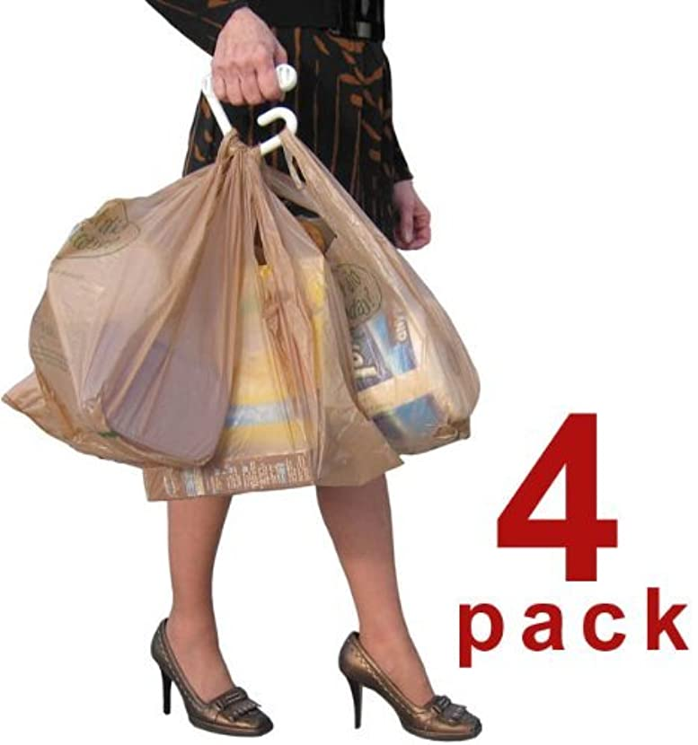BAG-MATE HANDLE CARRIER FOR PLASTIC GROCERY BAGS - HIGHEST QUALITY MOST COMFORTABLE HANDLE AT THE BEST PRICE - Holds more bags than you can lift! MADE IN USA! ALSO IN A 2 PACK AND A 10 PACK - SEARCH
