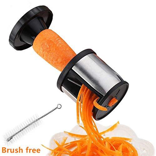 Spiralschneider für Gemüse, aus Edelstahl, ideal zur Herstellung von Gemüsespaghetti, für Zucchini, Karotte, Kartoffel, Gurke, Obst, leicht zu reinigen, klein