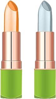 Beaupretty 2個アロエ口紅唇モイス栄養リップバーム化粧品温度色変化リップグロス