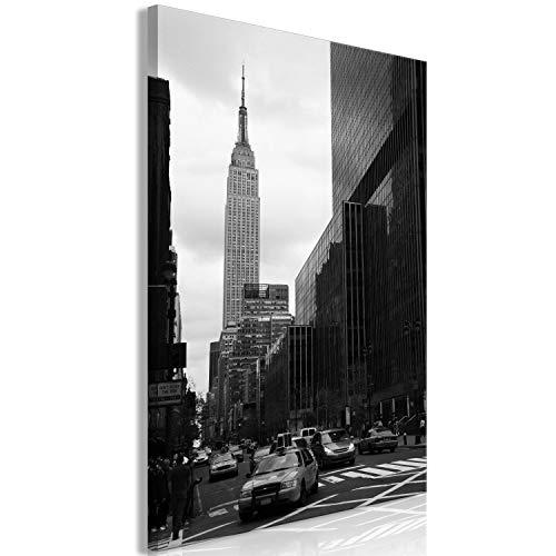 murando Cuadro en Lienzo New York 30x45 cm 1 Parte Impresión en Material Tejido no Tejido Impresión Artística Imagen Gráfica Decoracion de Pared - Ciudad Panorama Manhattan d-B-0246-b-a