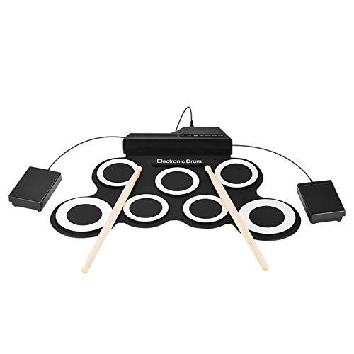 QinWenYan Tambores Electronicos TAMAÑO Compacto Portátil...