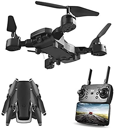 $66 Get Hengfuntong-Elec WiFi FPV Drone with 1080P Camera, Foldable RC Quadcopter, Wide-Angle Live Video/Voice Control/Gravity Sensor/3D Flips Headless Mode/One Key Take Off/Landing