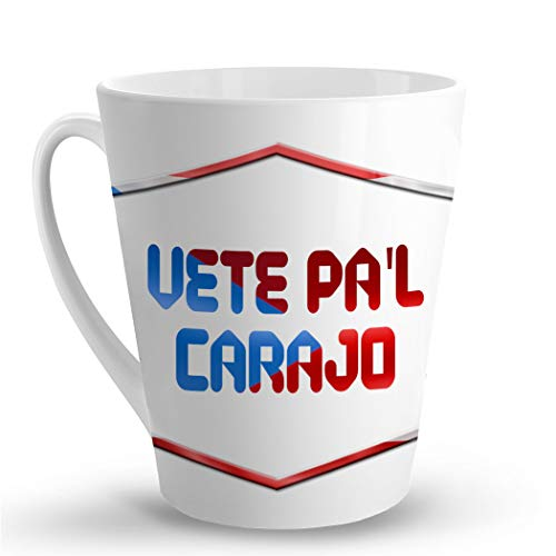 Makoroni - VETE PA'L CARAJO Puerto Rican - Puerto Rico - 12 Oz. Unique Ceramic Coffee Cup, LATTE MUG