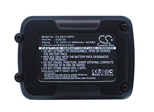 CS-DEC120PH Akku 4000mAh Kompatibel mit [DEWALT] 12V MAX Li-ion, DCD700, DCD710, DCD710D2-QW, DCD710N, DCD710S2, DCE0811, DCE0811D1G-QW, DCE0811D1R-QW, DCE0811LR-XJ, DCE0811NR-XJ, DCE0825, DCE0825D1G