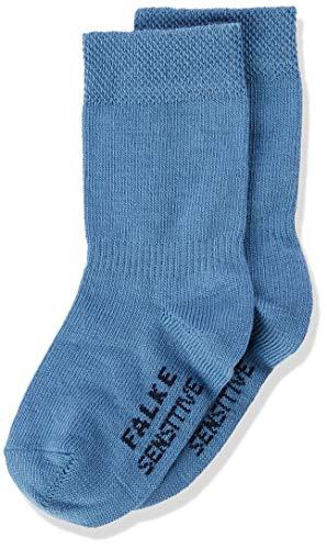 FALKE Unisex Baby Sensitive B Socken, Blau (Denim 6062), 80-92 EU