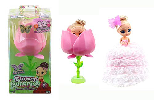 Cupcake Surprise- Flower Surprise, duftende Blume, die Sich in eine wunderschöne Prinzessin verwandelt, Sortiert