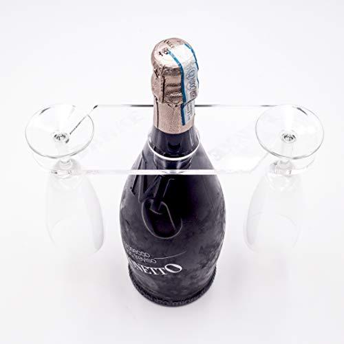 Pamura - GLASANOVA - Weinglashalter - Acryl - Wein Geschenk - Geschenke für Männer - Geschenke für Frauen - Danke
