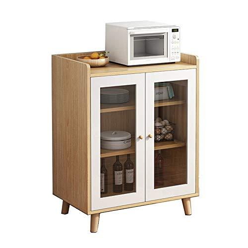 Aparador de sala de estar Aparador Sirviendo Buffet Entryway Bar Gabinete de almacenamiento con puertas Entrada Consola Sala de estar Alacena de cocina ( Color : Wood , Size : 63x40x93.5cm )