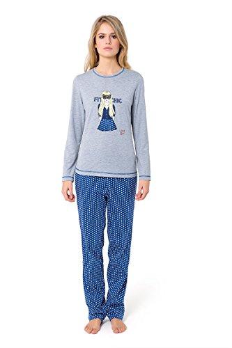 Pijama Largo Bordado Chica