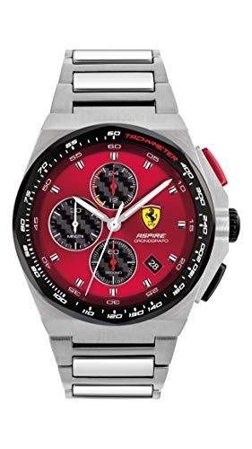 Ferrari Men's Quartz Watch with Stainless Steel Strap, Silver, 18 (Model: 0830790)