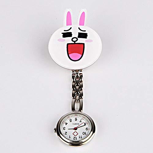 Cxypeng Taschenuhr Krankenschwestern Uhr,Acryl Krankenschwester Uhr, Cartoon Charakter Legierung Armband hängen Uhr blau,Pulsuhr Krankenschwester