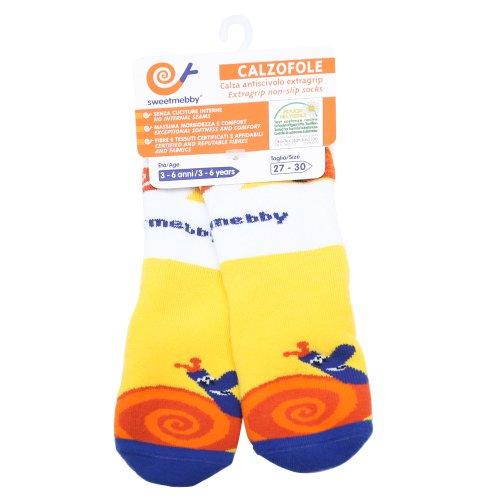 Mebby Calzofole Chaussettes pour Bébé - Escargot - 3-6 ans - 27/30
