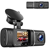 Toguard 1080p Dual Dash Cam with IR Night Vision