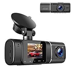【FHD 1080P Dual Lens Dash Cam】 With a 1.5-inch LCD screen, the 6-glass HD dual lens dash cam simultaneously records front at 1920x1080P with 30fps and inside at 1080x720P with 25fps, which provides sharp high-quality videos/images and powerful eviden...