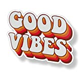 70's Good Vibes Sticker Groovy Retro Vintage...