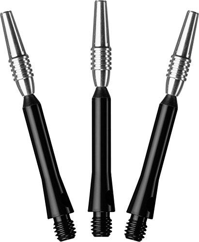 Viper Spinster Aluminum Dart Shaft: Medium (MD), Black, 3 Pack