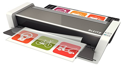 Leitz Touch 2 Laminator A3, Smart Sensor TechnologyIdeal for Offices and Schools, Glossy White Anthracite, iLAM Range, 74745000