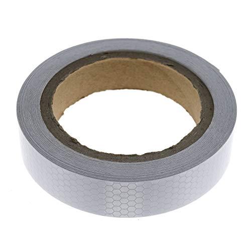 2.5cm x10m Reflektorfolie Reflektorband Silber Selbstklebend Warnung Wabenmuster