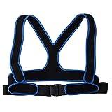 Cintura per sedia a rotelle, cinghia per sedia a rotelle, cinghia per sedia a rotelle cinghia per imbracatura traspirante elastica antiscivolo(Nero)
