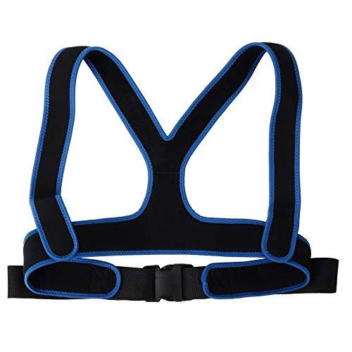 Cinturón de silla de ruedas, correa de silla de ruedas, cinturón de silla de ruedas, antideslizante, elástico, transpirable, correa de arnés para cinturón de fijación(Negro)