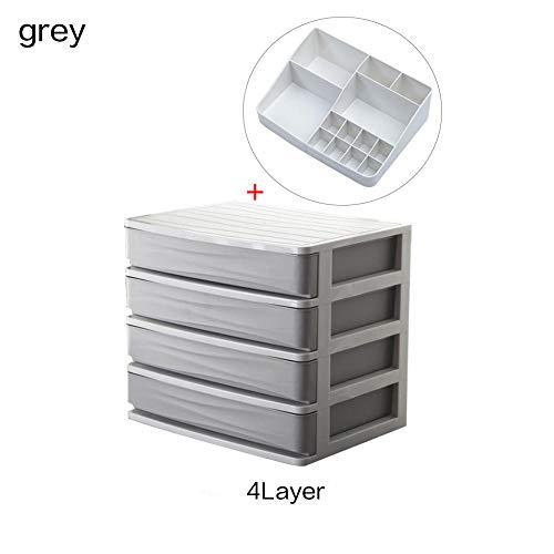 Make-up laden Organizer Box Sieraden Lippenstift Opbergdozen Container make-up case cosmetische 4 laag-grijs