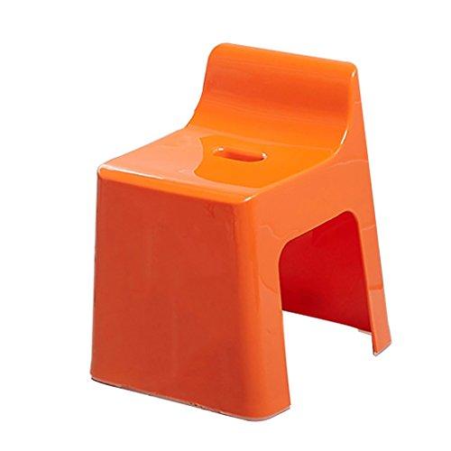 Taburete ducha LLS Taburete de asiento de asiento de ducha de plástico Taburete de lavado de pies Deslice de seguridad Trapezoidal Niño baño Taburetes con respaldo multifunción (naranja) Taburete para