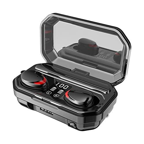 XCYG Auriculares Bluetooth de Juegos en el oído 5.1 Tecnología Bluetooth Auriculares inalámbricos a Prueba de Agua con función de la función de Banco de energía y la función de Linterna, 0.2kg.