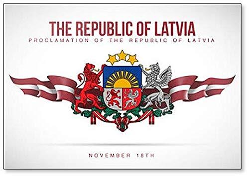 Kühlschrankmagnet Proklamation of the Republic of Lettland 18. November