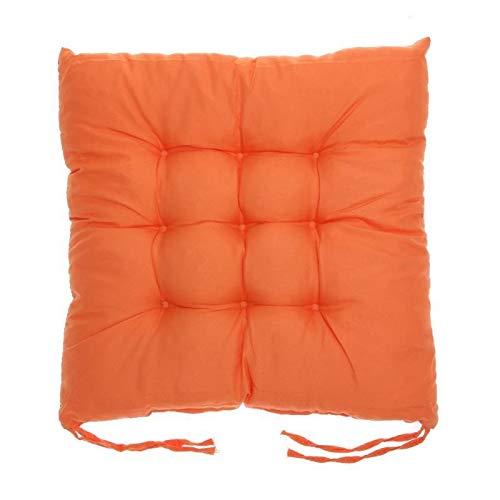 NO LOGO ZZB-- Cojín para silla (35 x 35 cm), diseño cómodo de algodón