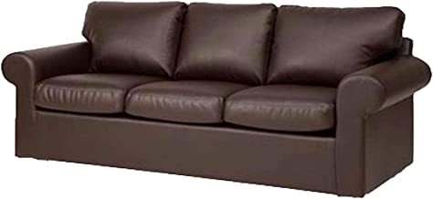 The Ektorp 3 Seat Sofa Cover Replacement is Custom Made for IKEA Ektorp Sofa Cover, an Ektorp Sofa Slipcover Replacement (New Brown PU Leather)