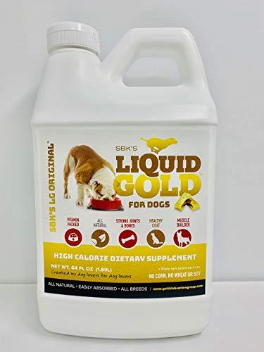SBK S Liquid Gold High Calorie Supplement for Canines and Felines- Half Gallon Original