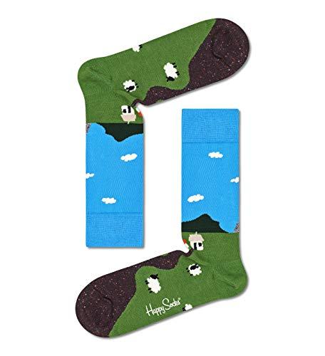 Happy Socks Damen Little House On The Moorland Socken, Multi, 36-40