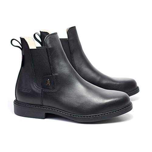 HoboShoes HOBO ADAN HG Chelsea Boot Reitsport Stiefelette Freizeit Leder - Black (Numeric_40)