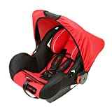 LuvLap 4-in-1 Infant/Baby Car Seat & Carry Cot with Canopy, 0 to 15 Months (Red)