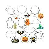 Stampo per biscotti Stampo per biscotti in acciaio inox / Formine per Biscotti Halloween/ Per Pasticcini Biscotti Pasticceria Cookie(10 Pezzi)
