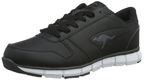 KangaROOS Unisex-Erwachsene K-BlueRun 700 B Low-Top, Schwarz (Black/Dk Grey 522), 39 EU