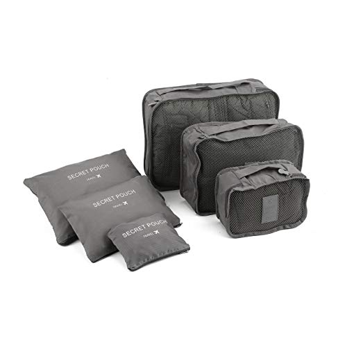 Ashley GAO Estilo coreano portátil duradero ecológico 6 unids/set cuadrado viaje hogar equipaje almacenamiento bolsas organizador ropa bolsa caso