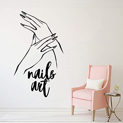 Tianpengyuanshuai nagel vinyl muursticker nagellak muurschildering muurafbeelding pedicure nagel muursticker beauty salon decoratie