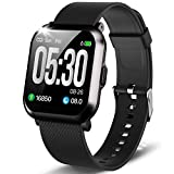 6. Proyoo Fitness Tracker, Health & Fitness Watch with Blood Pressure Heart Rate Monitor for Men Women,Waterproof Smart Watch with Sleep Tracking for iPhone Android Phones