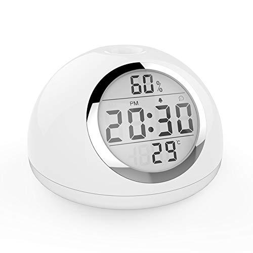 ZXY Despertador Llevado Las Luces de Alarma del Reloj, Gesto Función de Control de la Salida del Sol Simulador de 7 Colores de iluminación Noche Ayuda para el Sueño Nature Sounds Touch Control
