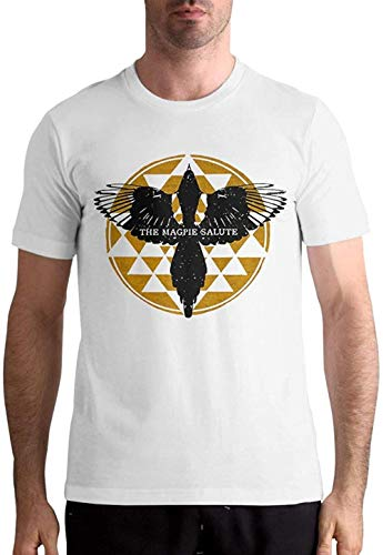 Sbvsdghfhgs The Magpie Salute Shirt Men's Summer Classic Short Sleeve T Shirt Tops,White,Medium