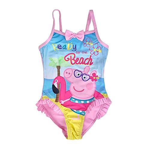 NADA HOME Disfraz de 1 pieza de playa oficial Peppa Pig para niña piscina 4107 Rosa 5 años