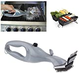 ZZX Barbecue Stainless Steel Cleaning Brush,Brush and Scraper Outdoor Grill Cleaner with Steam Power BBQ Accessories Kitchen Tools